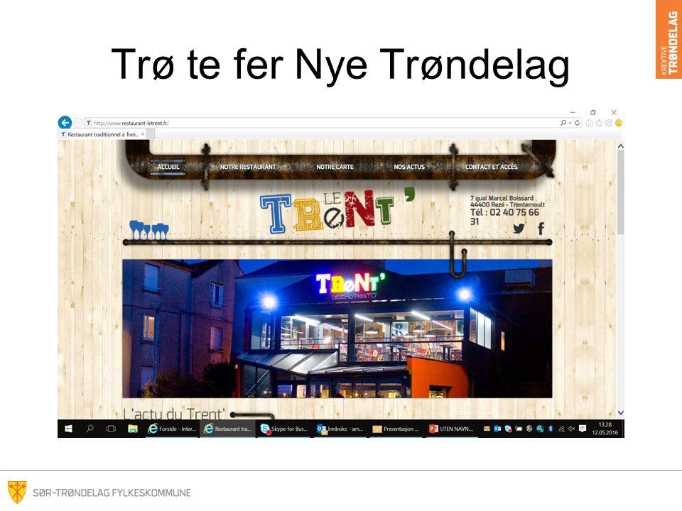 Trø te fer Nye Trøndelag