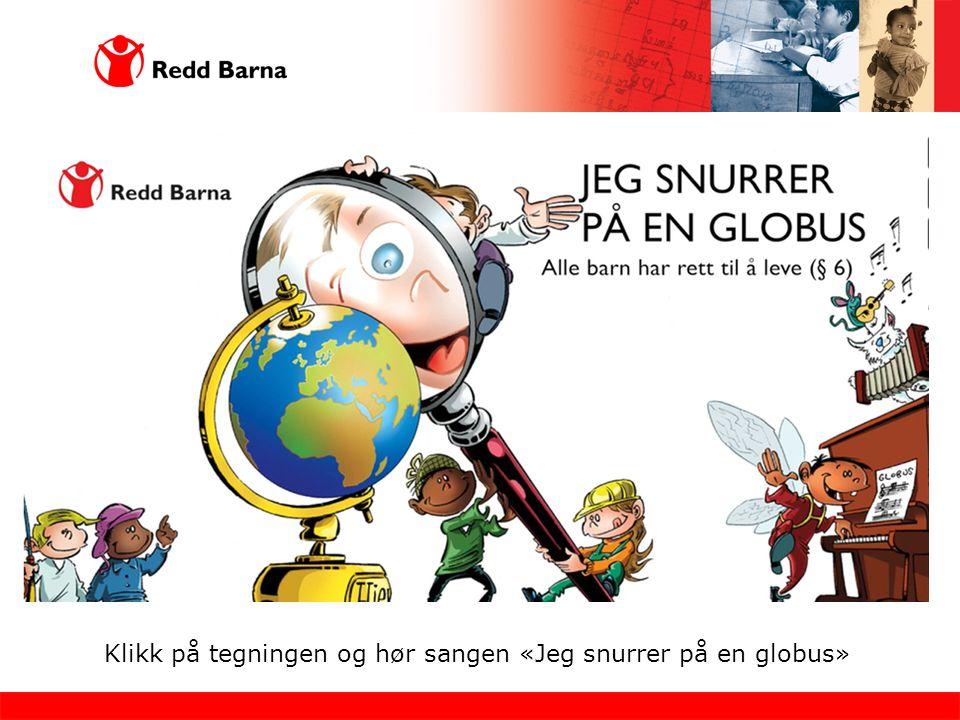 Klikk på tegningen og hør sangen «Jeg snurrer på en globus»