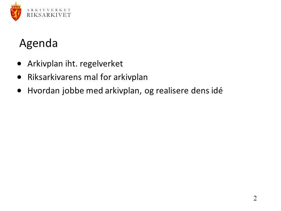 2 Agenda  Arkivplan iht.