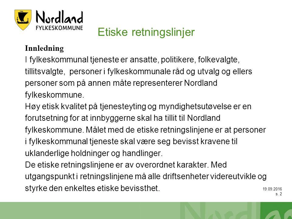 19.09.2016 s.33 Case etikk - åpenhet 1.Julius er kultursjef i NFK.