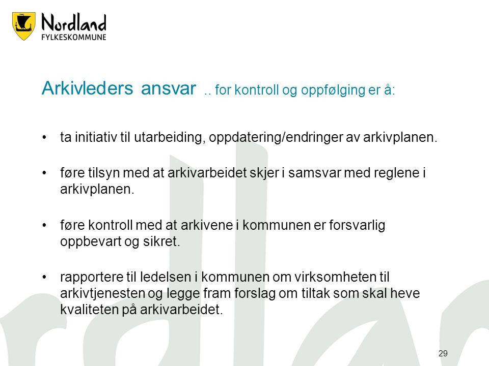 29 Arkivleders ansvar..