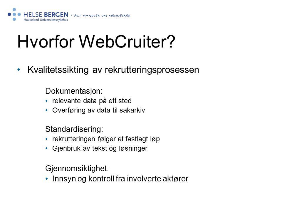 Hvorfor WebCruiter.