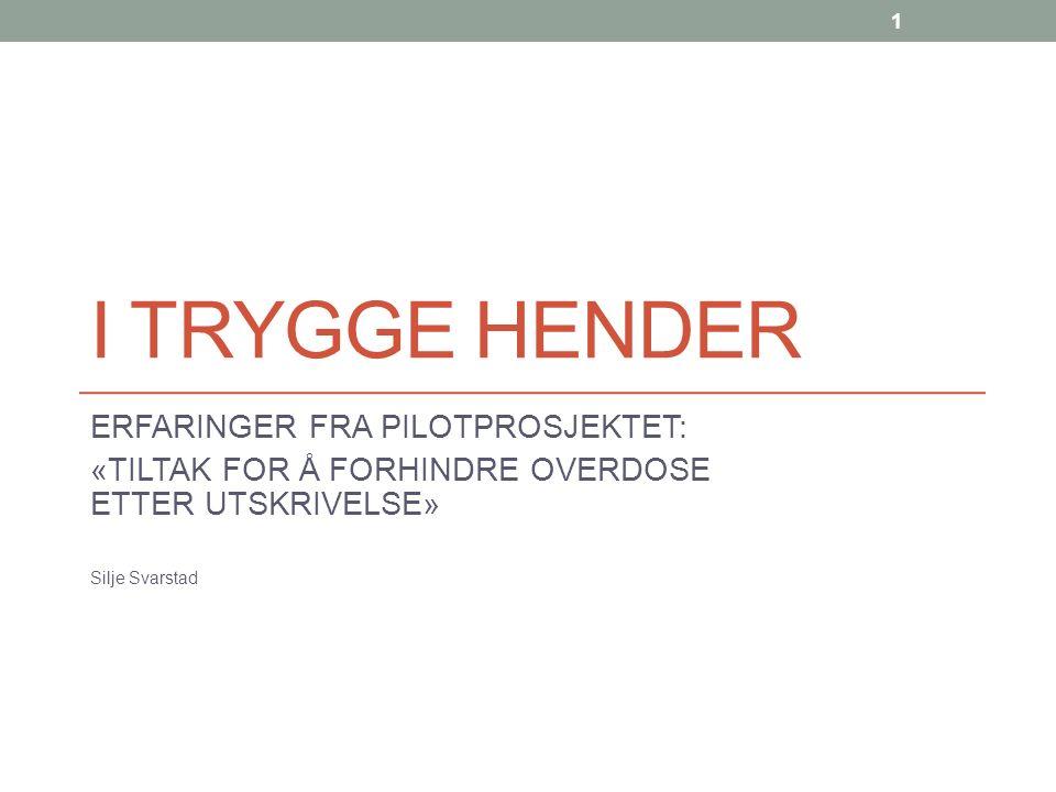 INNLEDNING: Prosjektet er gjennomført ved Stiftelsen Bergensklinikkene avdeling Hjellestad Tre forebyggende tiltak ble prøvd ut i løpet av perioden.