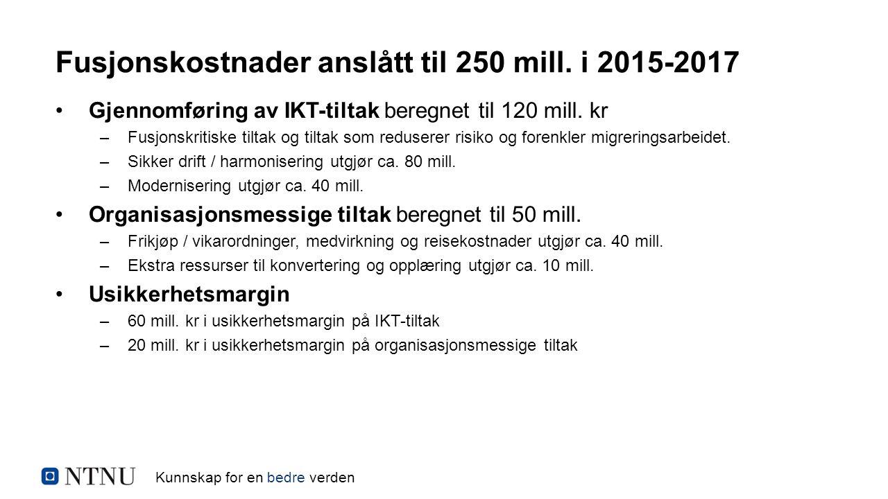 Kunnskap for en bedre verden Gjennomføring av IKT-tiltak beregnet til 120 mill.