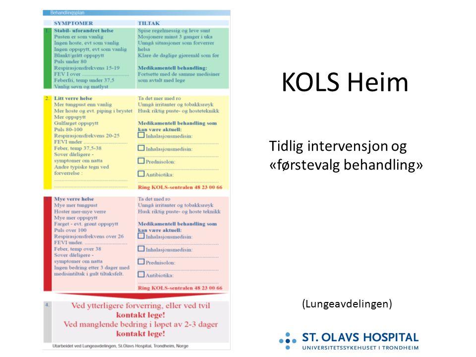 KOLS Heim Tidlig intervensjon og «førstevalg behandling» (Lungeavdelingen)