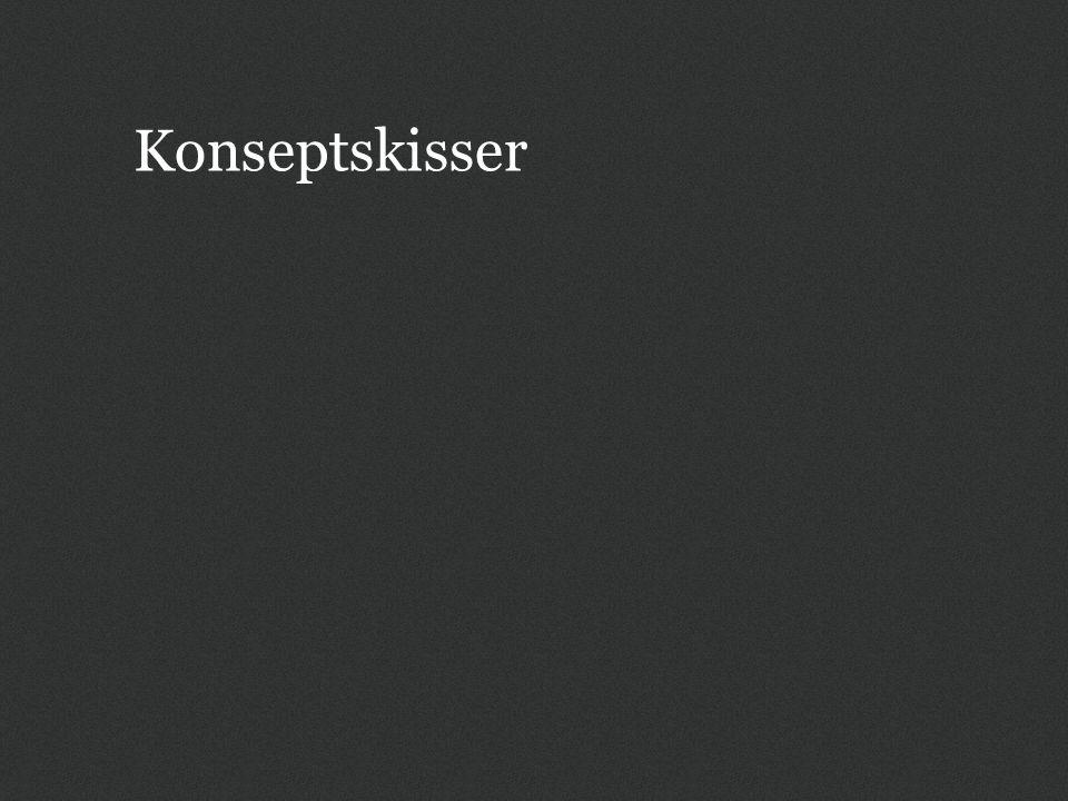 Generelt Skissene viser litt blanding med hensyn til om lenker er blå Lenker i liste trenger ikke være understreket for å være tilgjengelig, men bør ha understreking når brukeren holder pekeren er over lenken Gir et litt roligere inntrykk på navigasjonssider (f.eks.