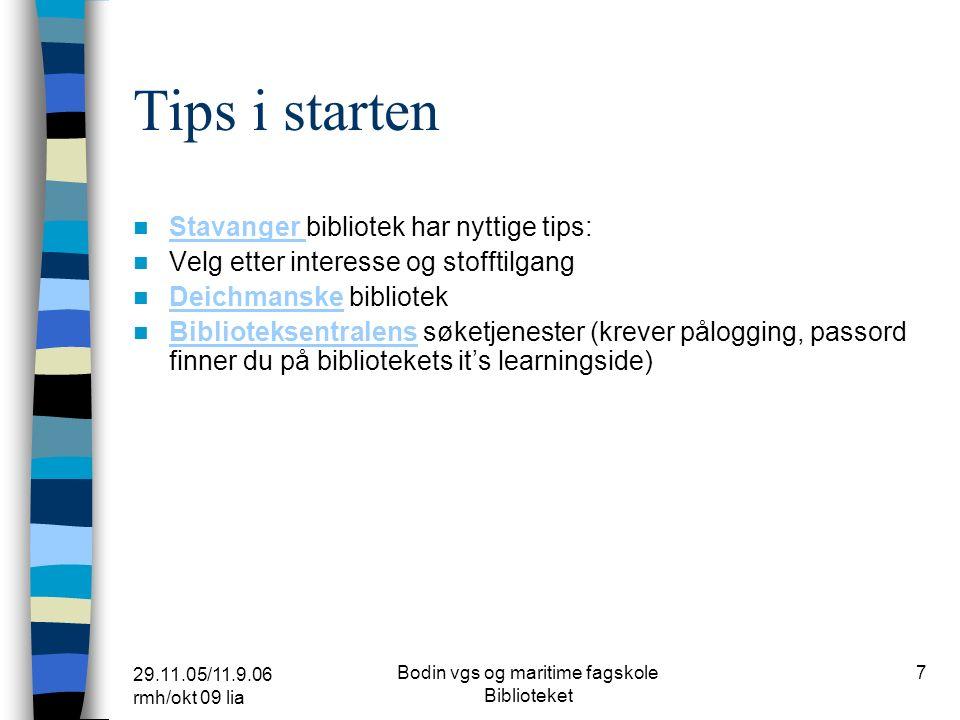 29.11.05/11.9.06 rmh/okt 09 lia Bodin vgs og maritime fagskole Biblioteket 17 Lenker – litterært særemne Dagbladet www.dagbladet.no/forfatter/forfatter.htmlwww.dagbladet.no/forfatter/forfatter.html Forfatteromtaler og bokanmeldelser Aftenposten www.aftenposten.no/alex/litterat/www.aftenposten.no/alex/litterat/ forfatteromtaler og bokanmeldelser