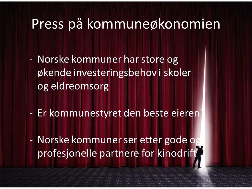 Press på kommuneøkonomien -Norske kommuner har store og økende investeringsbehov i skoler og eldreomsorg -Er kommunestyret den beste eieren.