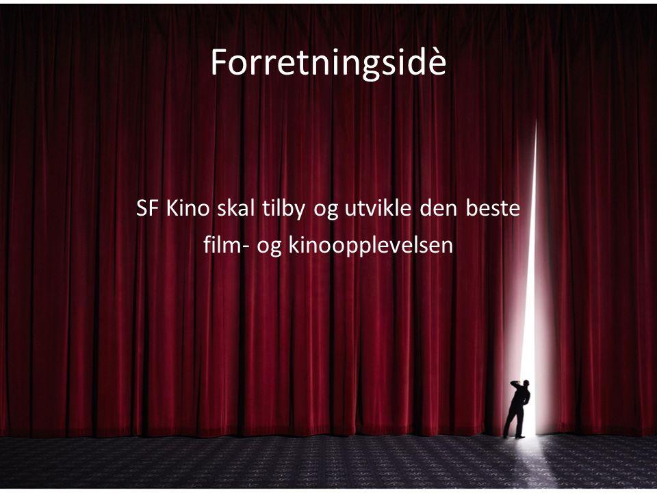 Forretningsidè SF Kino skal tilby og utvikle den beste film- og kinoopplevelsen
