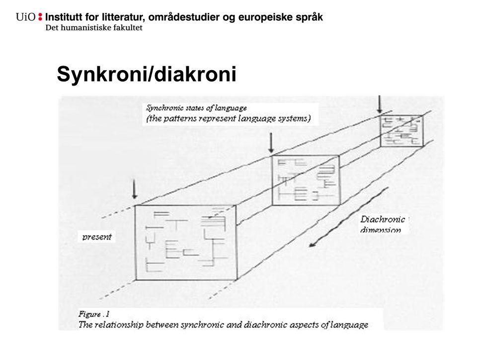 Synkroni/diakroni