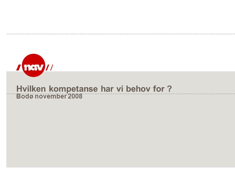 Hvilken kompetanse har vi behov for Bodø november 2008