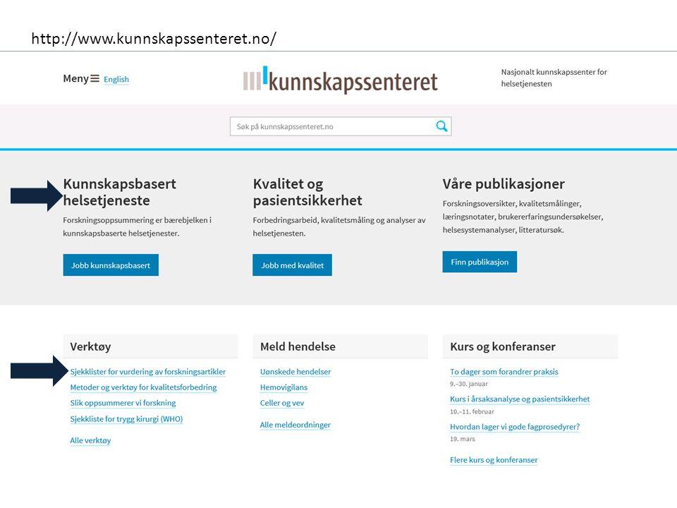 http://www.kunnskapssenteret.no/