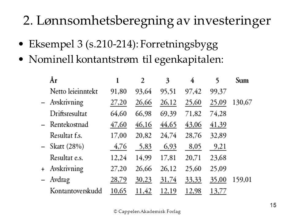 © Cappelen Akademisk Forlag 15 2.