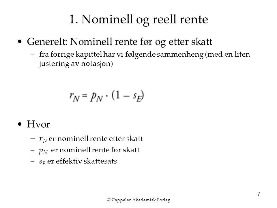 © Cappelen Akademisk Forlag 7 1.
