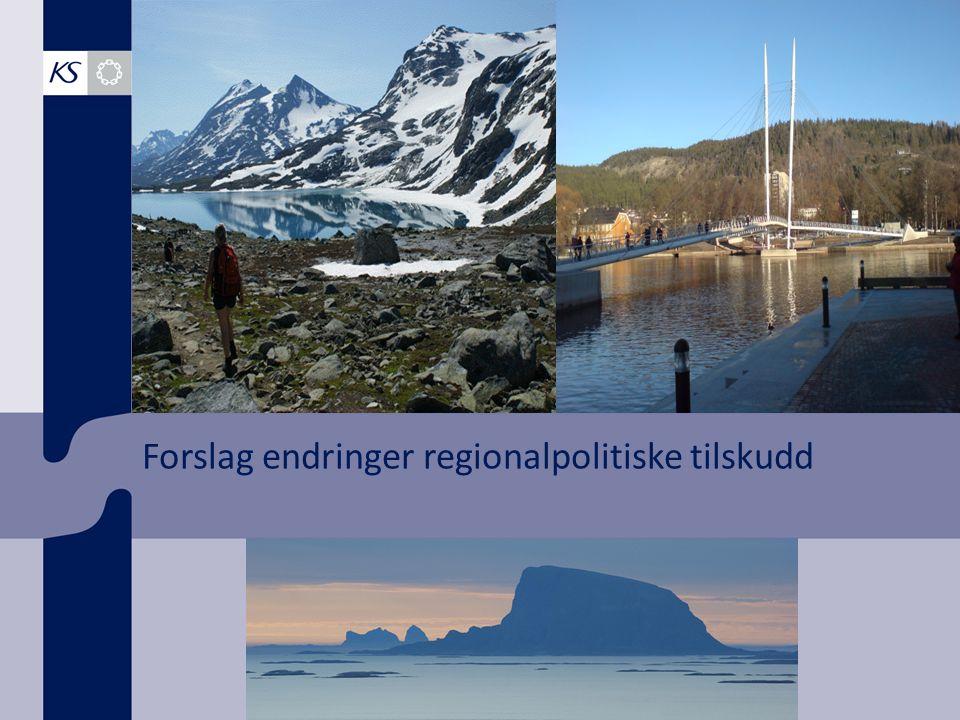 Forslag endringer regionalpolitiske tilskudd