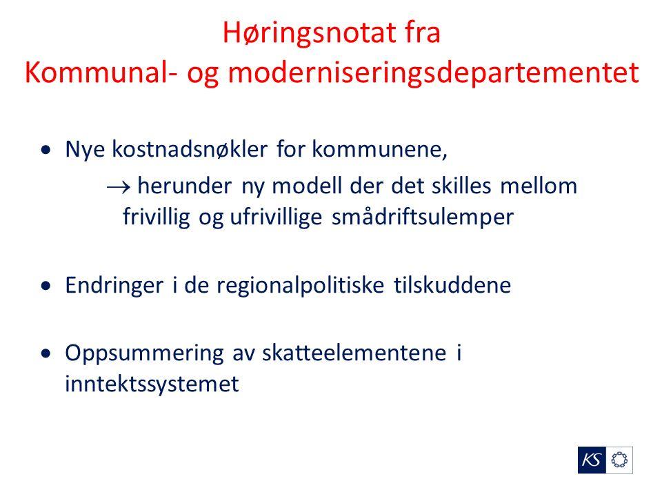 Nytt strukturkriterium 3  KMD foreslår et nytt strukturkriterium, – kommuner som har smådriftsulempene som ikke fullt ut kan anses som ufrivillige skal få en reduksjon i den delen av tilskuddet som knyttes til det såkalte basiskriteriet