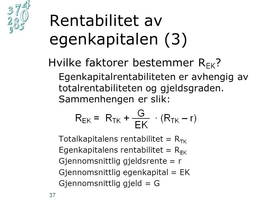 Hvilke faktorer bestemmer R EK .
