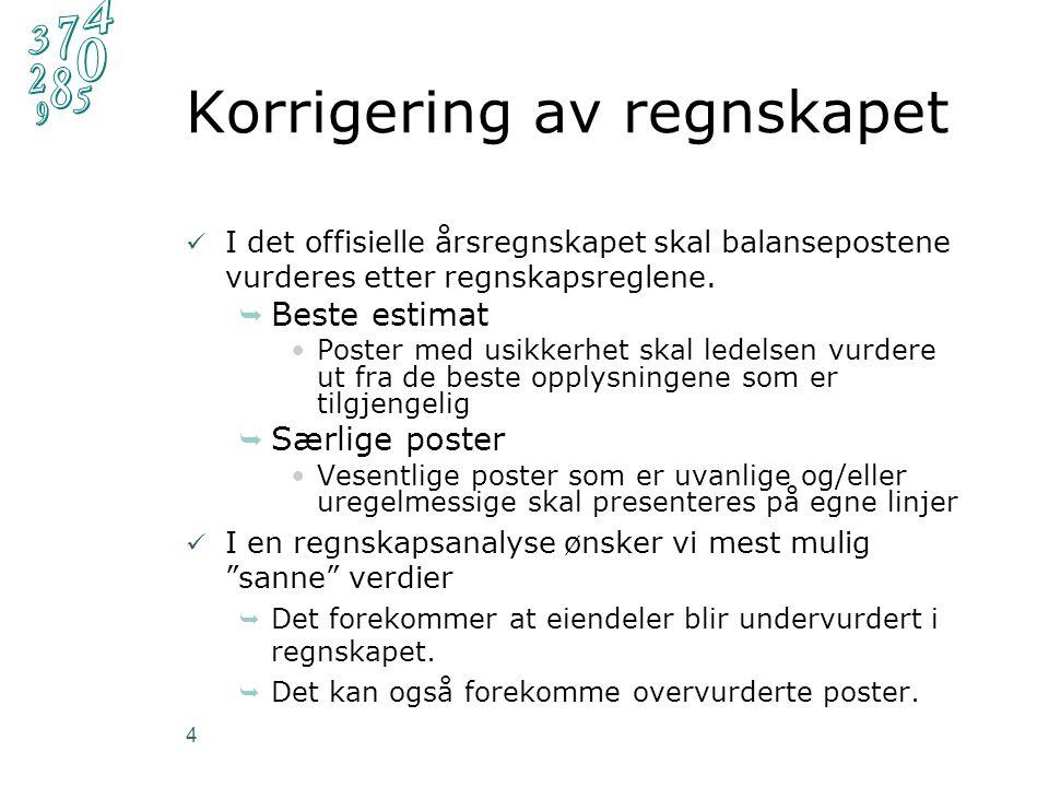 Finansiering (3) 15 Andre nøkkeltall i finansieringsanalysen: I tillegg gir kontantstrømoppstillingen også informasjon om finansieringen