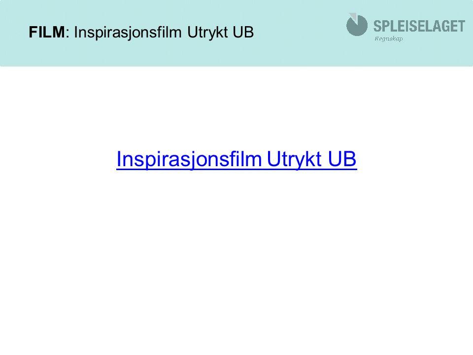 FILM: Inspirasjonsfilm Utrykt UB Inspirasjonsfilm Utrykt UB