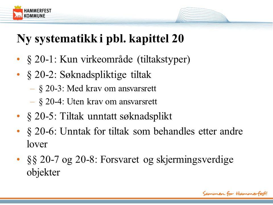 Ny systematikk i pbl.