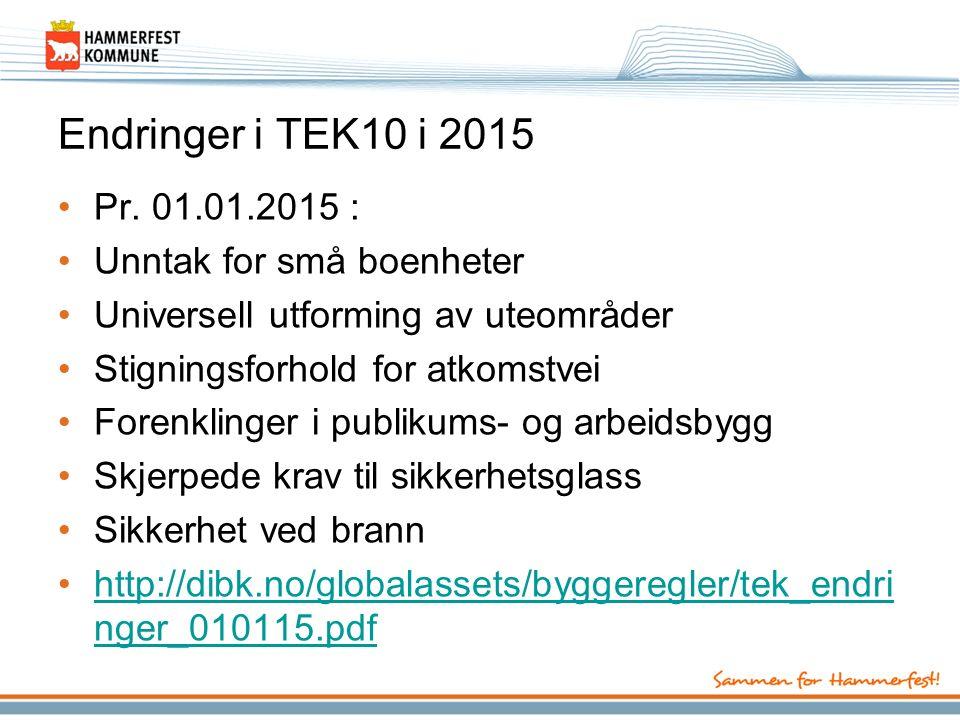Endringer i TEK10 i 2015 Pr.