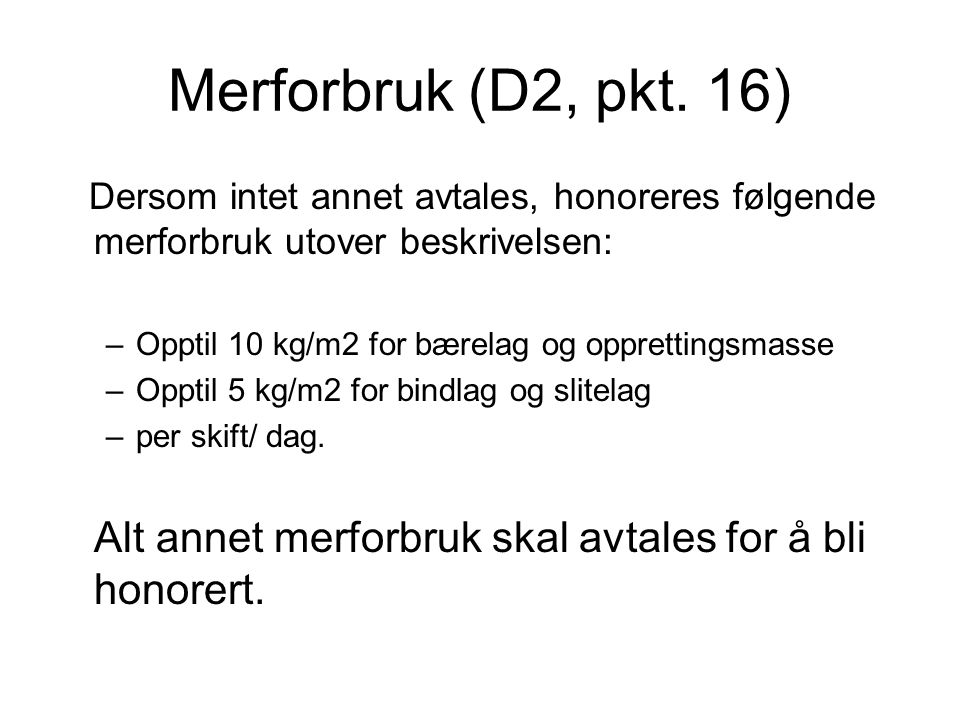 Merforbruk (D2, pkt.