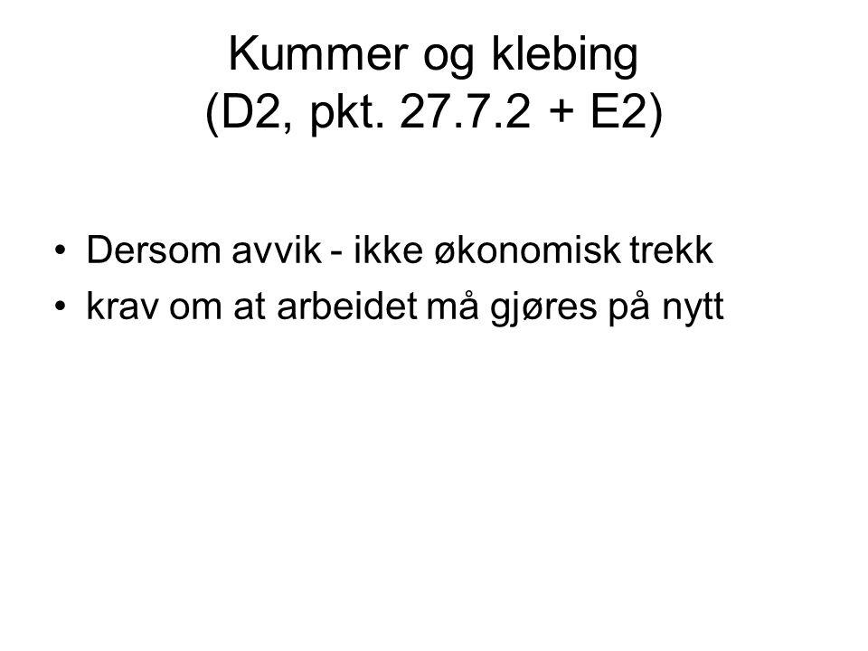 Kummer og klebing (D2, pkt.