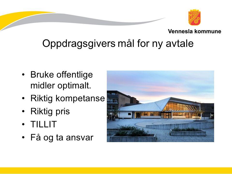 Oppdragsgiver er Vennesla kommune Enhet for byggforvaltning Enhet for teknisk forvaltning Andre enheter To boligstiftelser