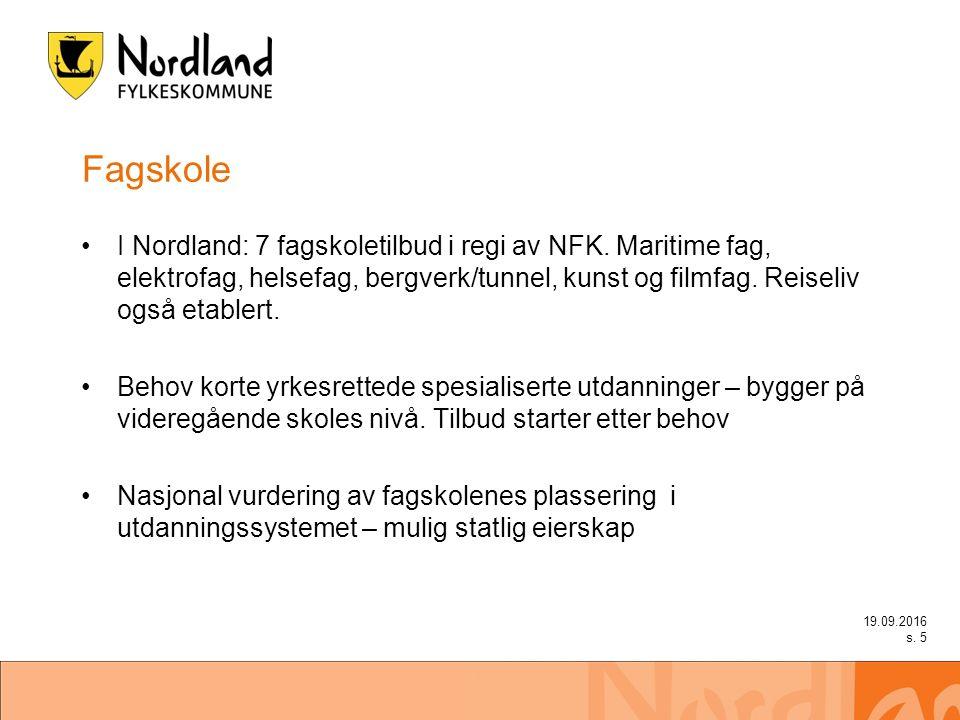 Fagskole I Nordland: 7 fagskoletilbud i regi av NFK.