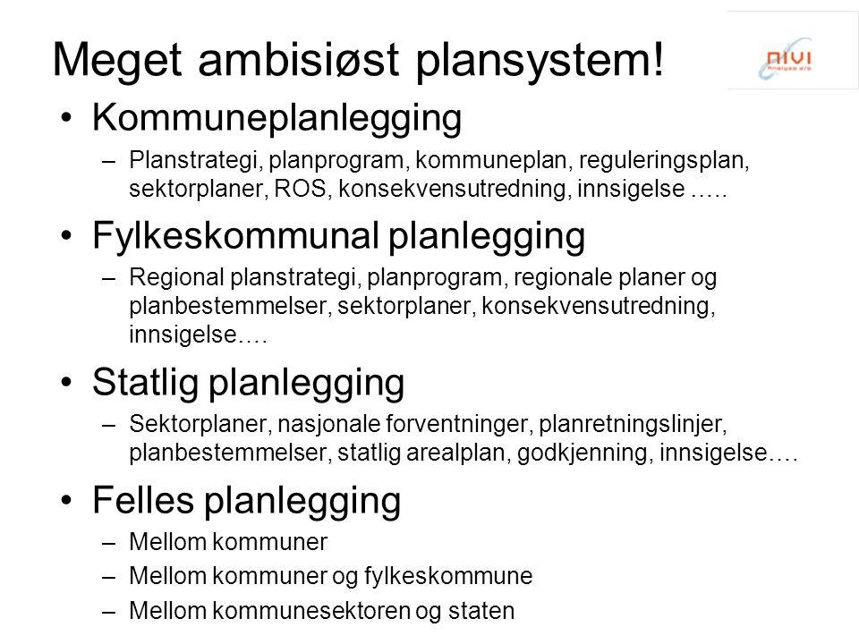Meget ambisiøst plansystem.