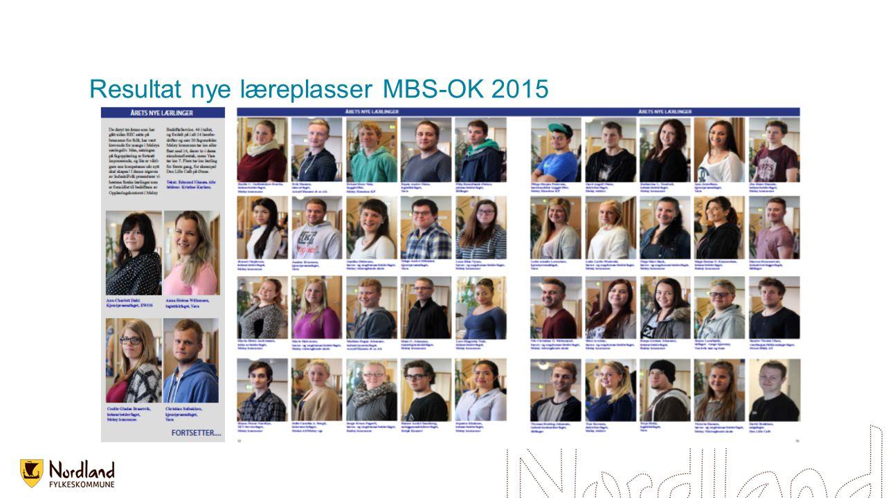 Resultat nye læreplasser MBS-OK 2015