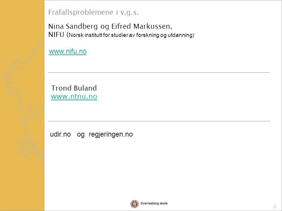 18 1: Nettstedet www.vilbli.nowww.vilbli.no 2: Sør-Trøndelag Fylkeskommunes nettsider: www.stfk.no Klikk videre på fanen Utdanning .www.stfk.no 3: Sverresborg skoles hjemmesider.