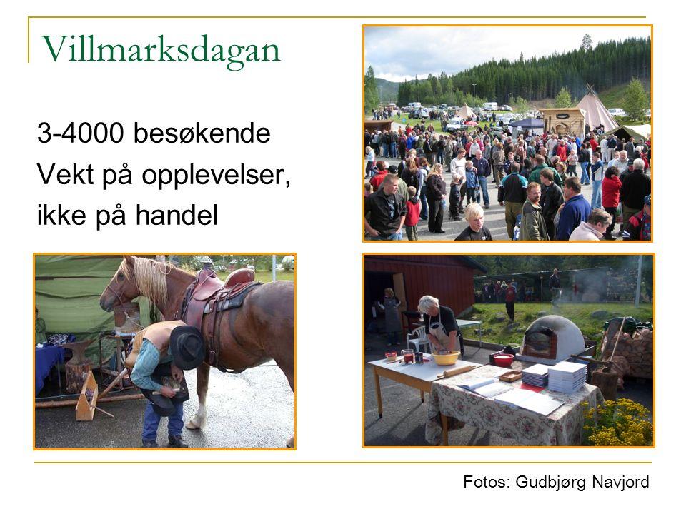 Villmarksdagan 3-4000 besøkende Vekt på opplevelser, ikke på handel Fotos: Gudbjørg Navjord