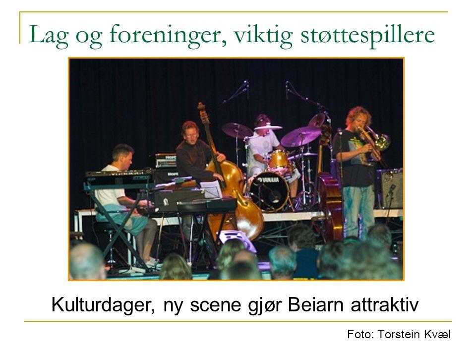 Kulturdager, ny scene gjør Beiarn attraktiv Foto: Torstein Kvæl Lag og foreninger, viktig støttespillere