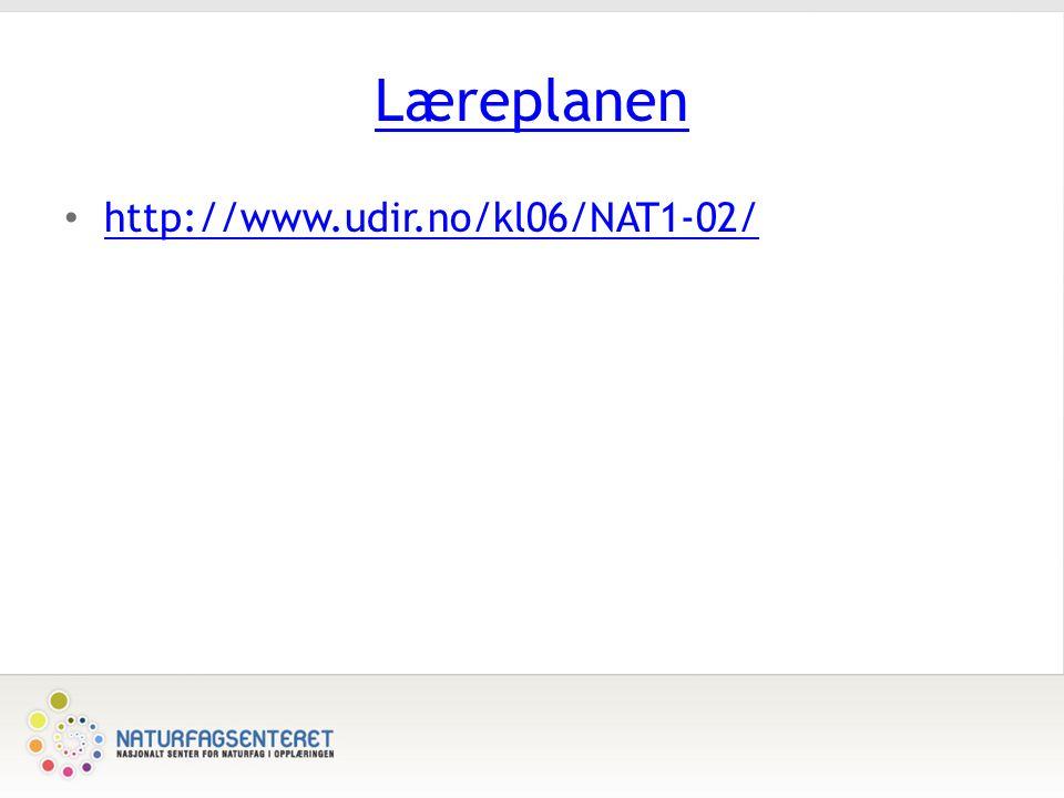 Læreplanen http://www.udir.no/kl06/NAT1-02/