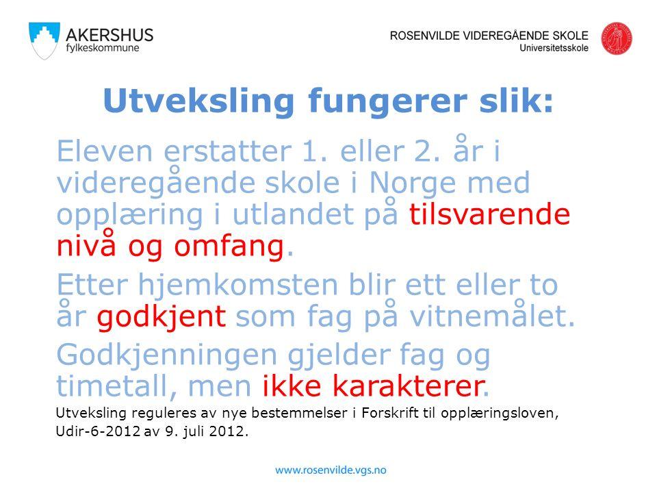 Noen tips: Ta ut engelsk oversettelse av læreplanene for aktuelle fag (finnes på www.udir.no).