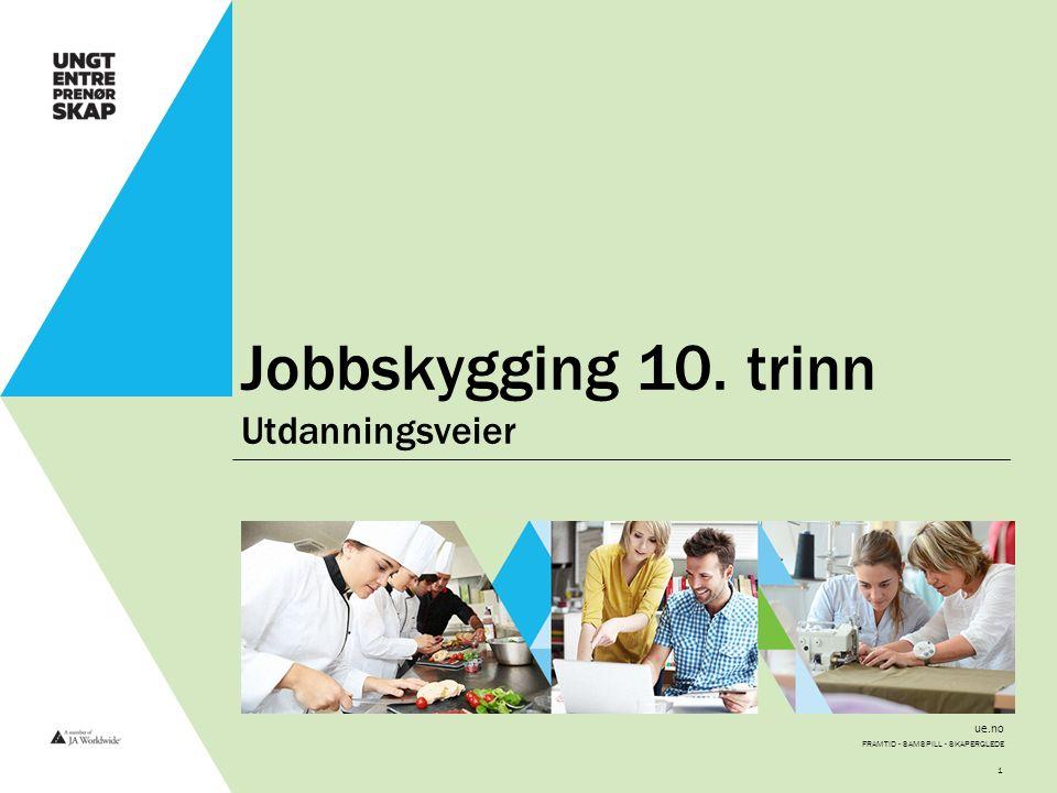 ue.no Jobbskygging 10. trinn Utdanningsveier FRAMTID - SAMSPILL - SKAPERGLEDE 1