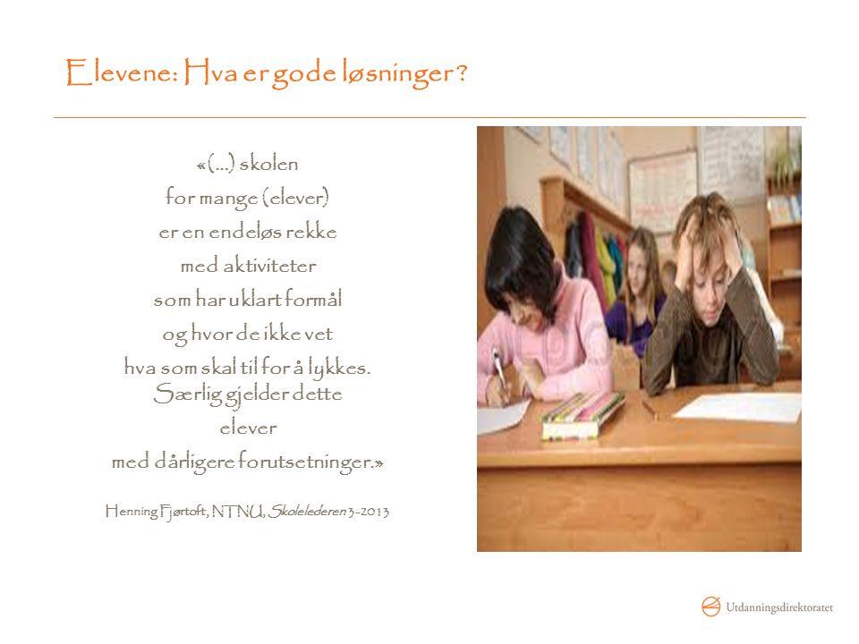 Elevene må få tid til fordyping Læreren snakker 70-80 % av tida.