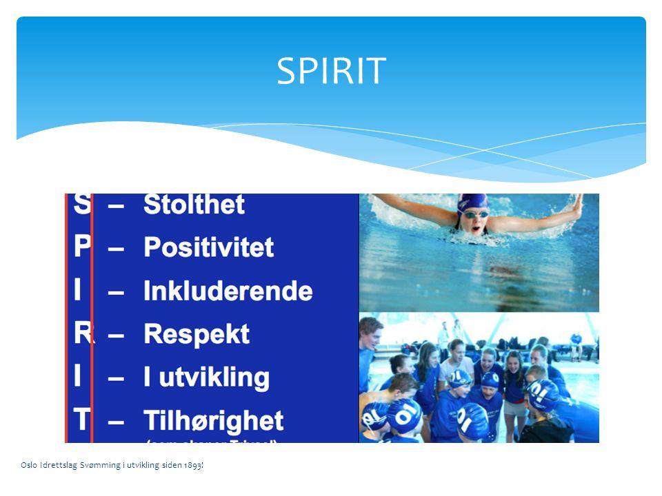 Oslo Idrettslag Svømming i utvikling siden 1893! SPIRIT