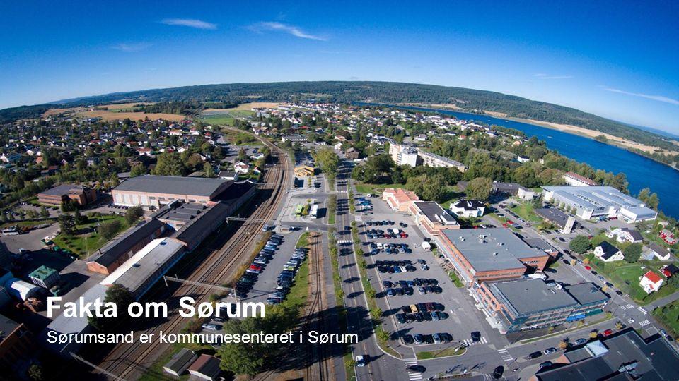 Sørumsand er kommunesenteret i Sørum Fakta om Sørum