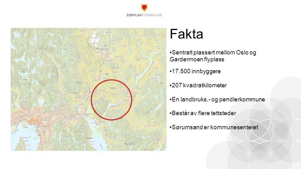 Fakta Sentralt plassert mellom Oslo og Gardermoen flyplass 17.500 innbyggere 207 kvadratkilometer En landbruks,- og pendlerkommune Består av flere tettsteder Sørumsand er kommunesenteret