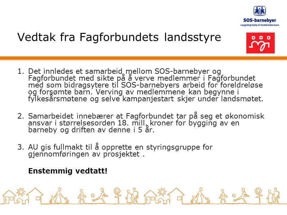 Gode erfaringer med samarbeid SOS-barnebyer og Oslo Sporveiers Arbeiderforening har samarbeidet i en årrekke.