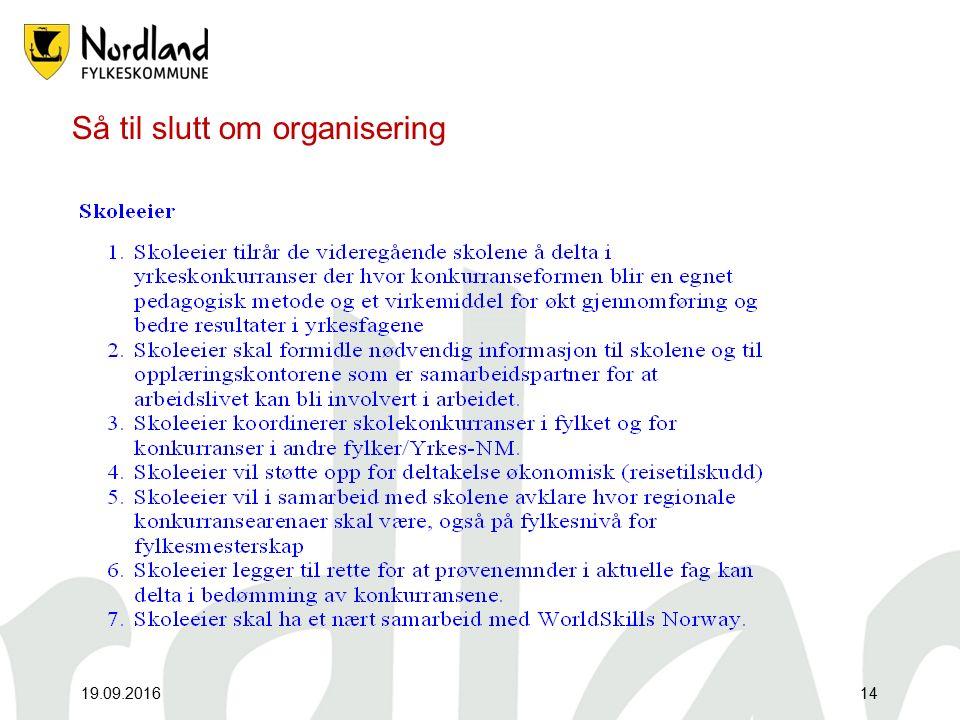 Organisering 19.09.201615