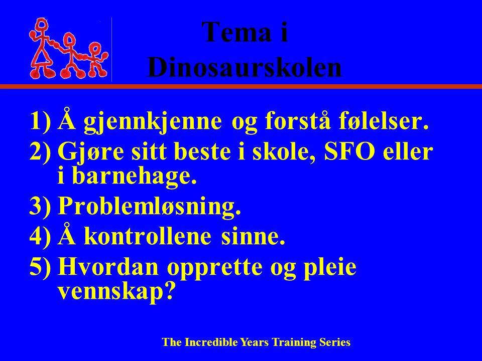 Tema i Dinosaurskolen 1)Å gjennkjenne og forstå følelser.