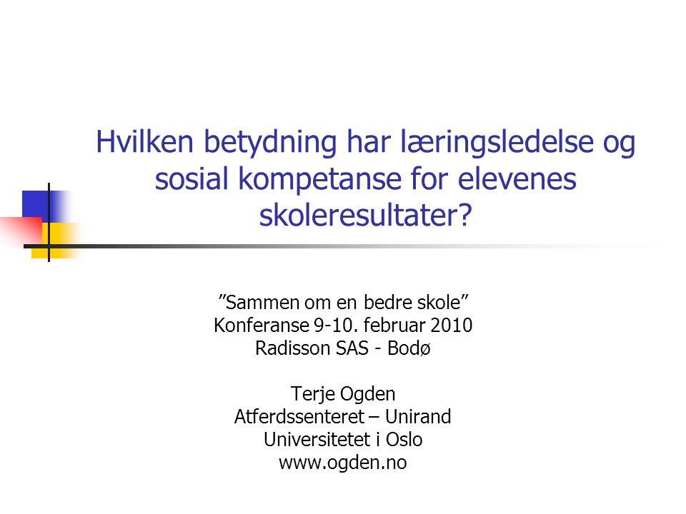 Norsk skoleforskning Hva formidler norsk forskning om praksis i skolen?