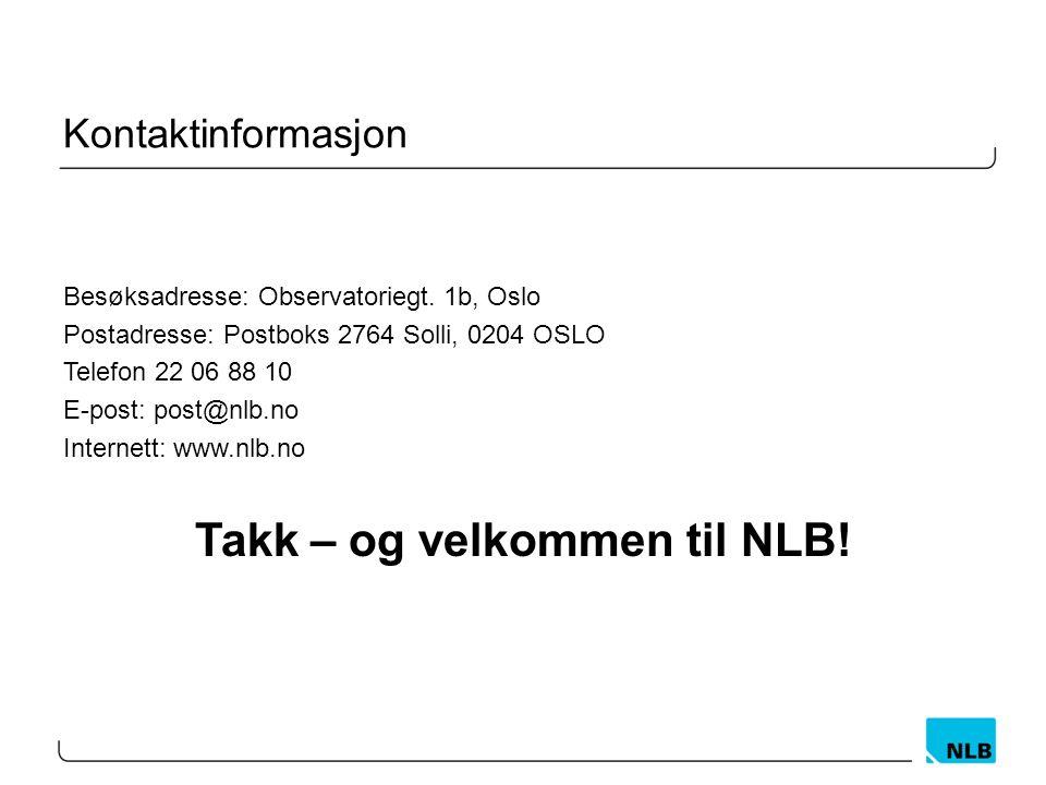 Kontaktinformasjon Besøksadresse: Observatoriegt.