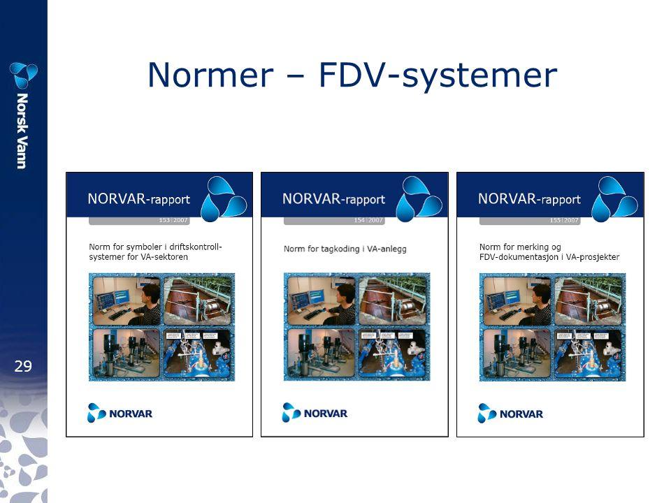29 Normer – FDV-systemer