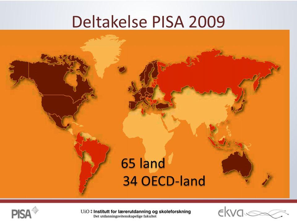 Deltakelse PISA 2009 65 land 34 OECD-land 65 land 34 OECD-land