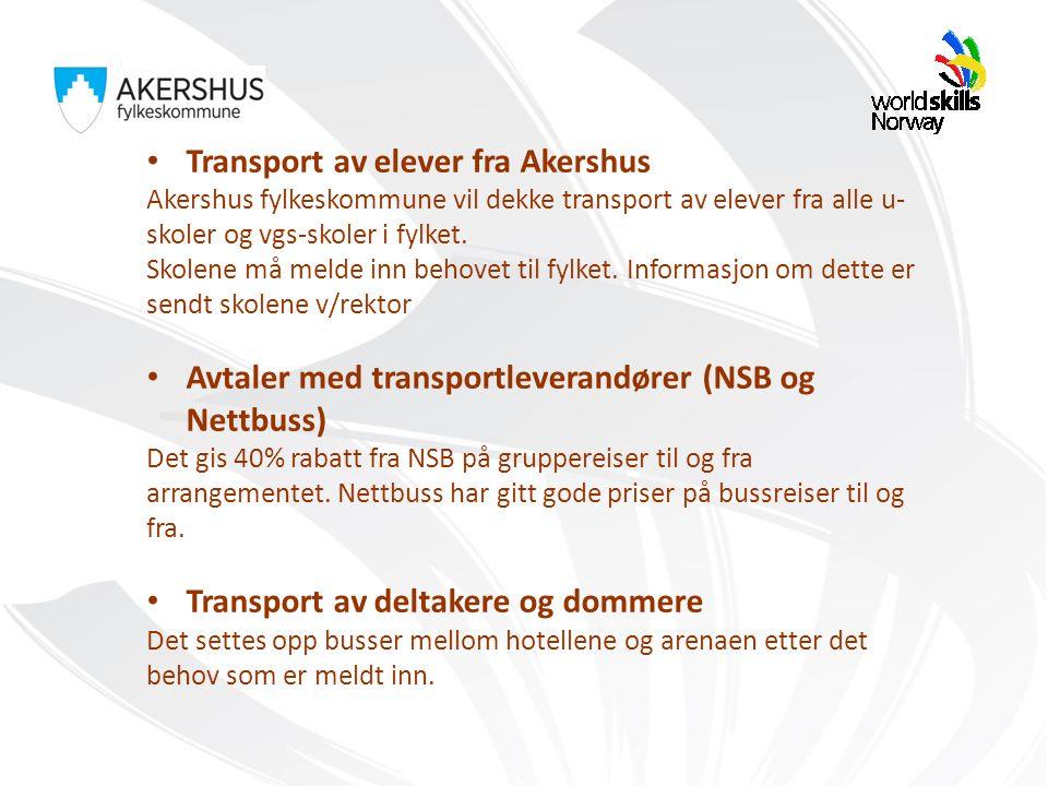 Transport av elever fra Akershus Akershus fylkeskommune vil dekke transport av elever fra alle u- skoler og vgs-skoler i fylket.