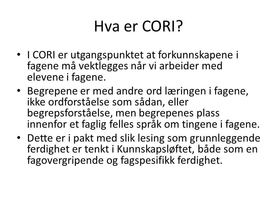 Hva er CORI.